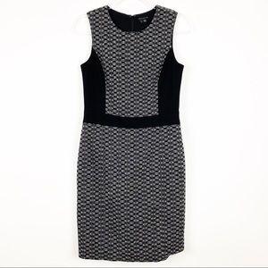 Theory Toli Chevon Wool Blend Sheath Dress